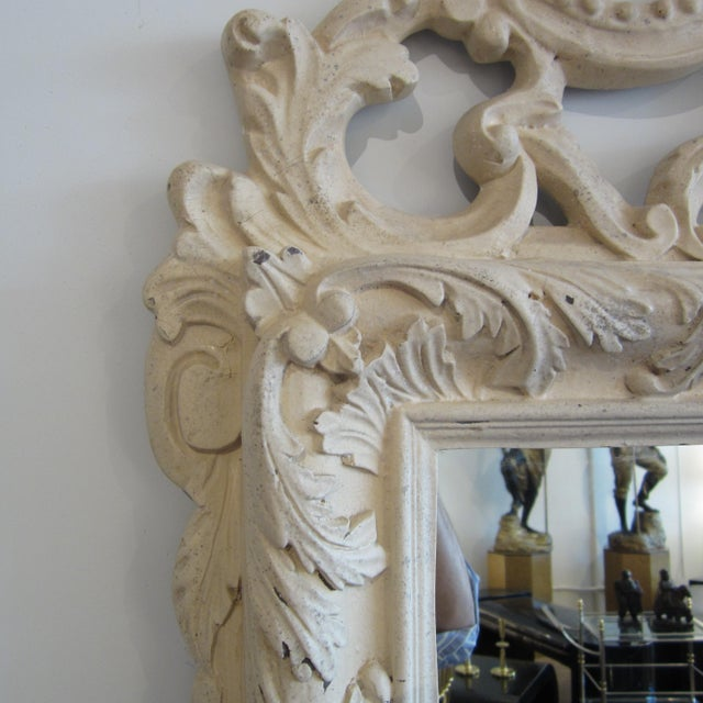 Rococo Heavily Patinated Mirror - Image 7 of 8