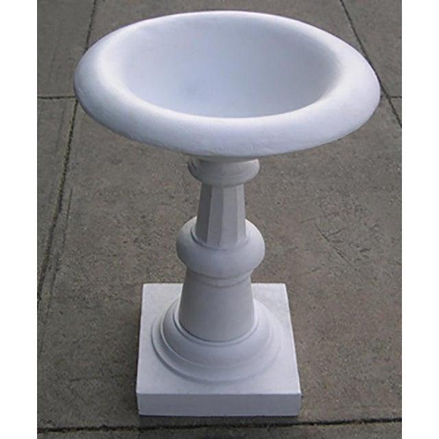 Late 20th Century Traditional White Cast Iron Birdbath For Sale - Image 4 of 4