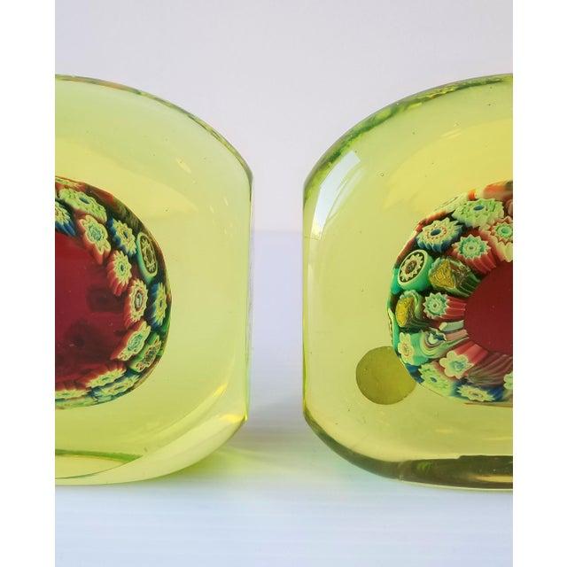 1950s 1950s Galliano Ferro Murano Glass Pin Wheel Bookends for Fornasa De Mvran a l'Insegna Moreto - a Pair For Sale - Image 5 of 8