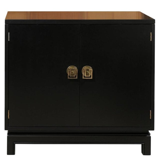 Elegant Mahogany Cabinet by Renzo Rutili in Black Lacquer For Sale - Image 9 of 9