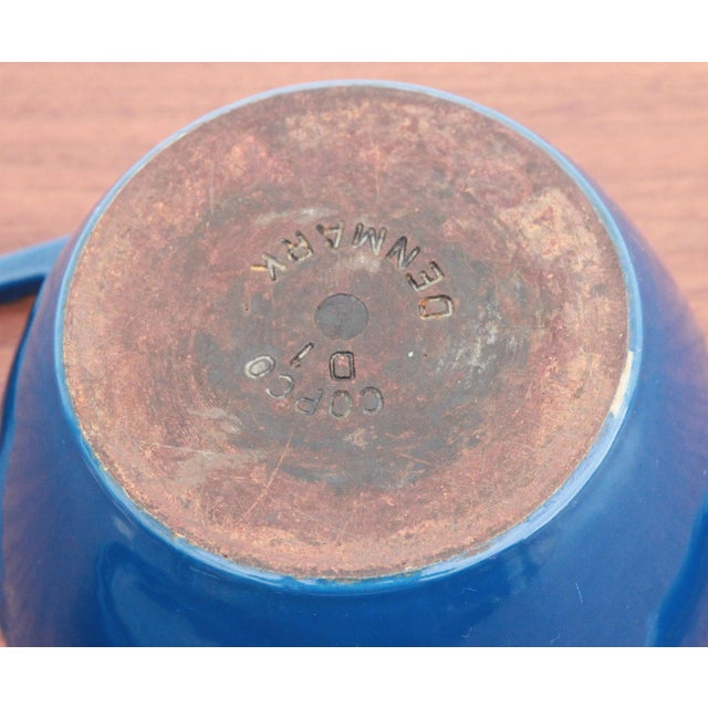 Blue Vintage Blue Michael Lax for Copco Danish Modern Cast Iron Dutch Oven For Sale - Image 8 of 8