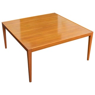 Handsome Square Art Moderne Coffee Table For Sale