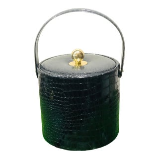Mid-Century Georges Briard Black & Brass Ice Bucket For Sale