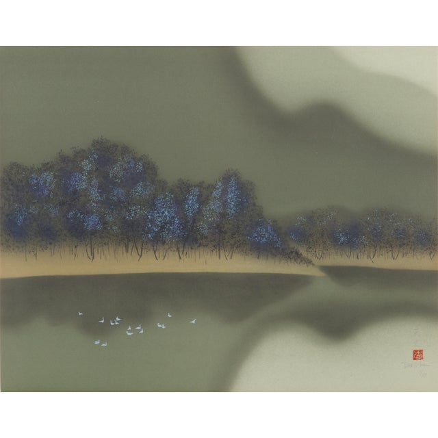 Modern David Lee, Mountain Lake (6), Lithograph For Sale - Image 3 of 3