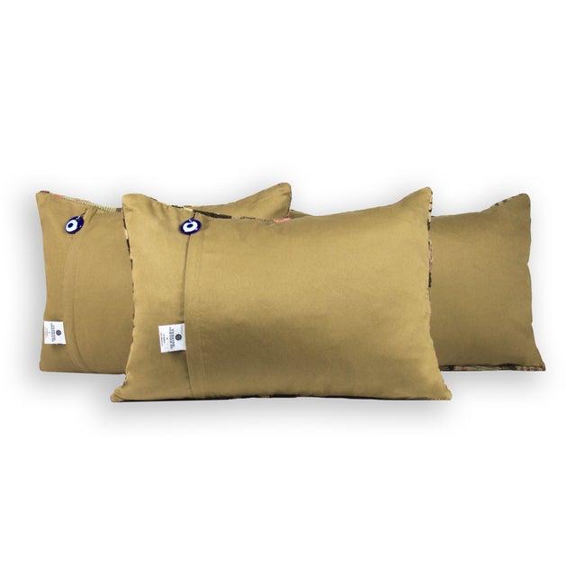 Kilim Green Lumbar Pillows - Set of 3 - Image 3 of 3