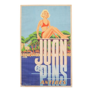 1935 Vintage Travel Beach Poster