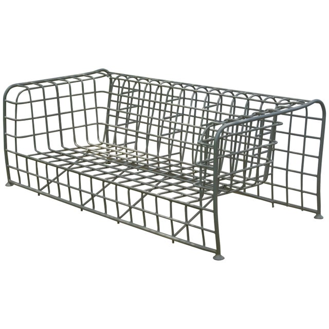 """Silver """"Architect"""" Patio Sofa by Mathias Hoffman for Brown Jordan For Sale - Image 8 of 8"""