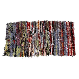 Moroccan Azilal Wool Rug - 6'5'' X 3'2''