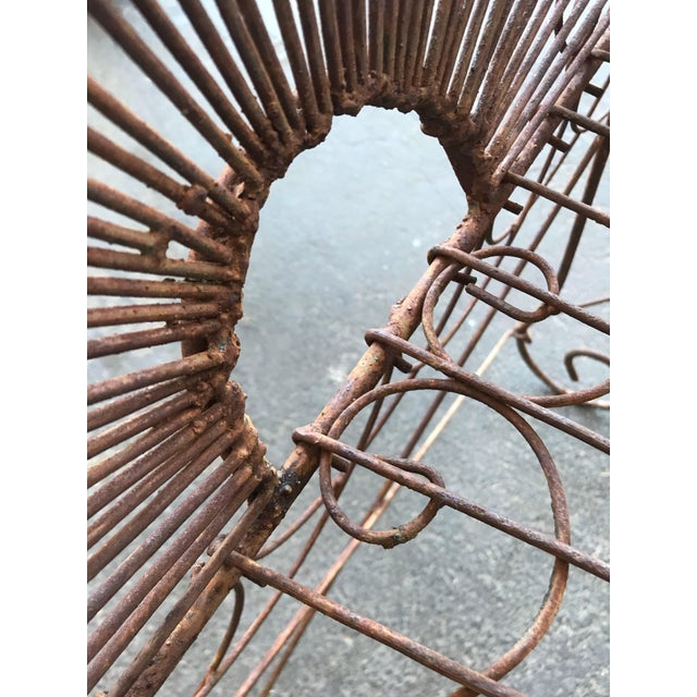 Late 19th Century French Wire Iron Garden Bench For Sale - Image 9 of 10