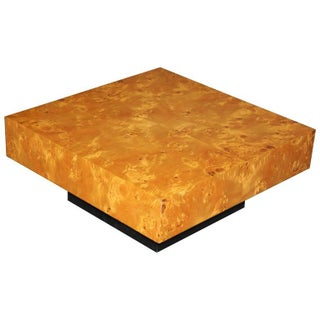 French Art Deco Burl Amboyna Accent or Coffee Table For Sale