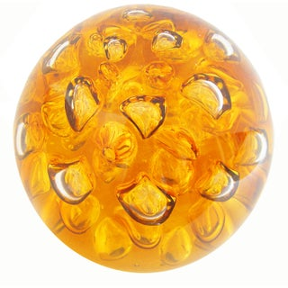 Large Amber Glass Sphere