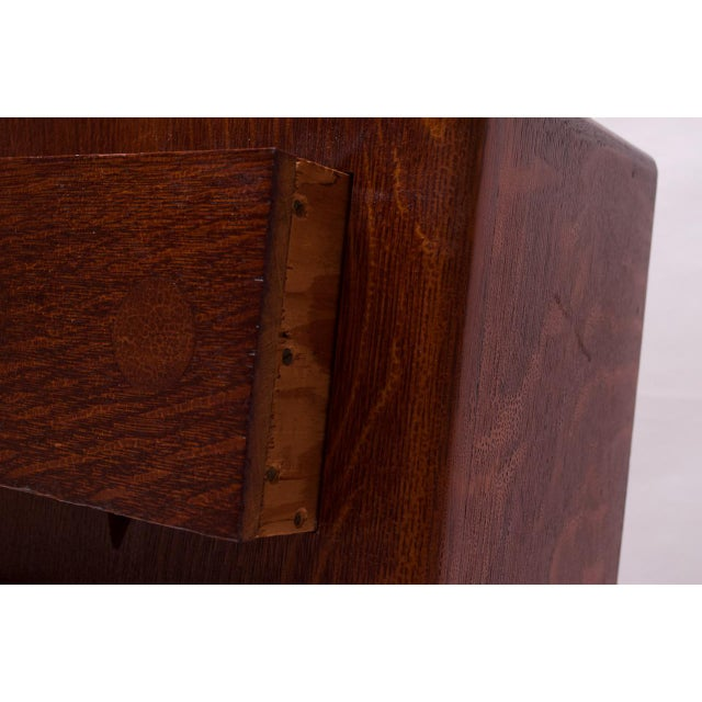 Art Deco Hand Carved Mahogany Three-Drawer Jewelry Chest / Storage Compartment For Sale - Image 12 of 13