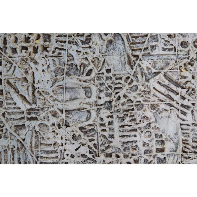 Wood Abstract Brutalist Style Textured Art on Masonite For Sale - Image 7 of 10