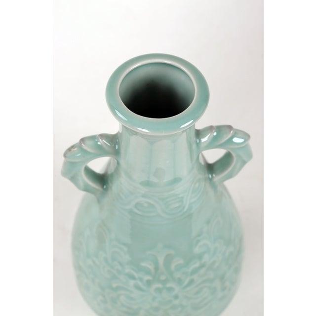 Vintage Celadon Pear Shaped Porcelain Vase For Sale - Image 11 of 13