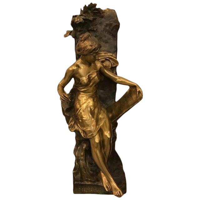 """Emile Louis Picault Signed Bronze Sculpture """"Memoria"""" - Image 1 of 10"""