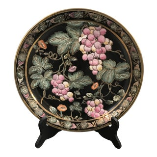 Grape Design Chinese Decorative Plate For Sale