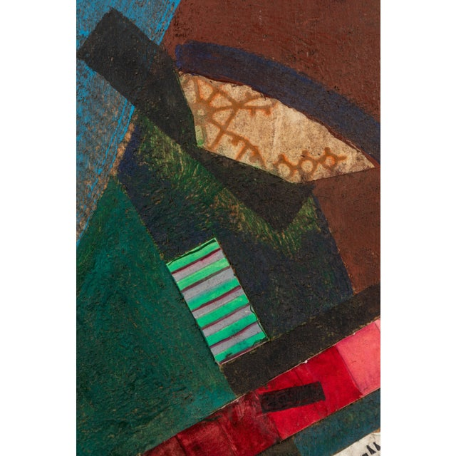 Early 20th Century Russian Suprematist Style Gouache and Paper on Board Artwork For Sale - Image 5 of 6