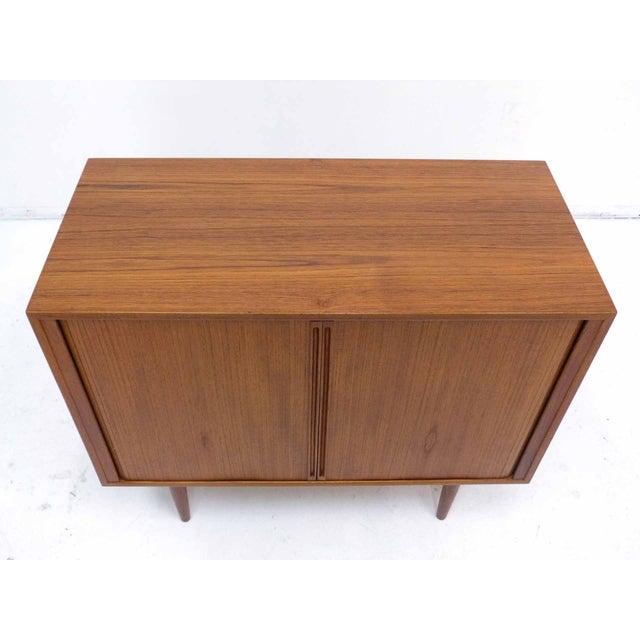Danish Modern Danish Teak Record Cabinet by Povl Dinesen For Sale - Image 3 of 10
