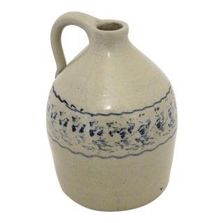 Antique American Stoneware 1/2 Gallon Liquor Jug For Sale