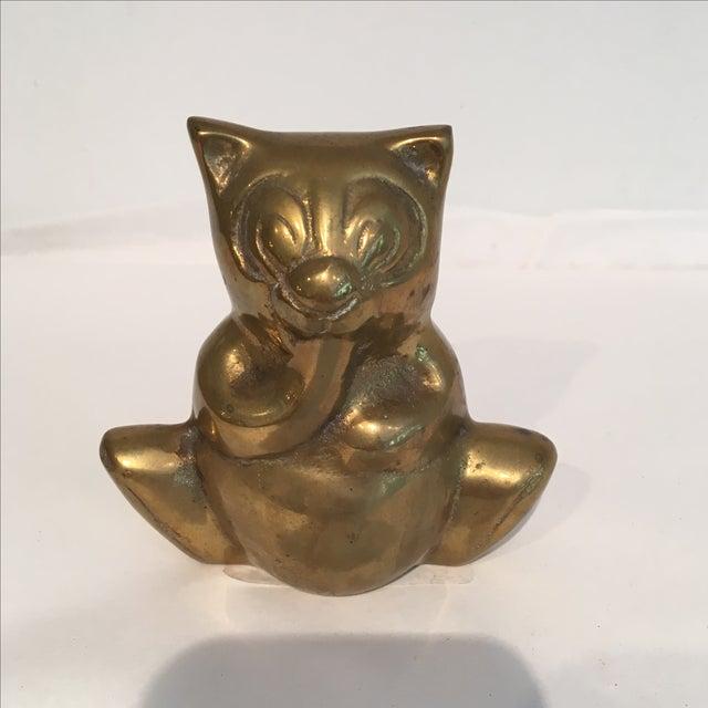 Boho Chic Brass Bear Figurine For Sale - Image 3 of 6