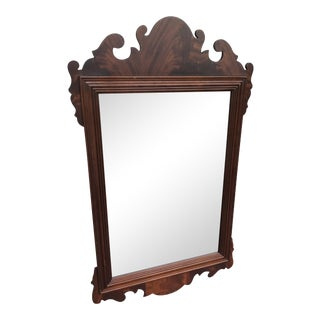 Councill Craftsman Mahogany Chippendale Beveled Mirror For Sale