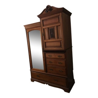 Vintage Mid-19th Century English Armoire For Sale