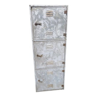 World War II Era Metal Submarine Locker Storage Cabinet