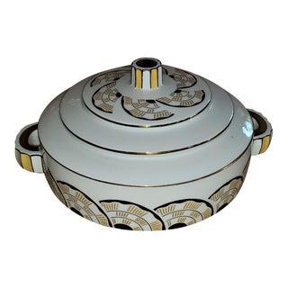 French Andre Francois Limoges Art Deco Lidded Bowl For Sale