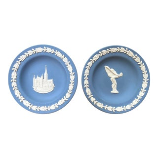 Wedgwood Vintage Jasperware Small Plates - A Pair For Sale