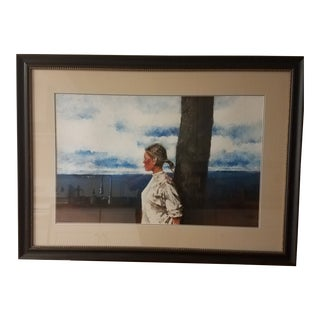 Original William Bracken Watercolor in the Style of Wyeth For Sale