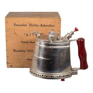 Argentinian Wax Steamer and Original Box C.1950 For Sale