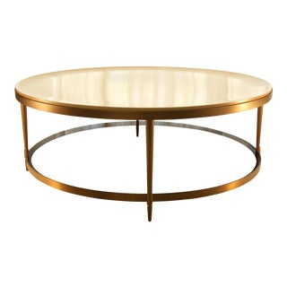 Contemporary Baker Barbara Barry Oberon Cocktail Table For Sale