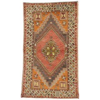 20th Century Turkish Oushak Accent Rug - 3′9″ × 6′6″ For Sale