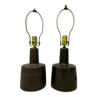 Comparable Pair of Mid Century Martz Table Lamps C.1960 For Sale