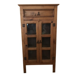 Vintage Farmhouse Apothecary Cupboard For Sale