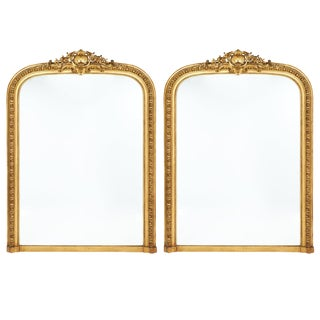 Pair of Napoleon III Gold Leafed Mirrors