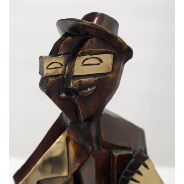 Bronze Abstract Guitarist Sculpture after Picasso Numbered For Sale - Image 9 of 9
