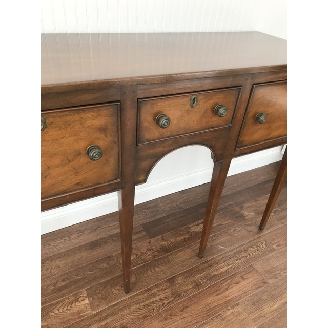 Kittinger 1950s Kittinger Colonial Williamsburg Mahogany Hepplewhite Sideboard For Sale - Image 4 of 13