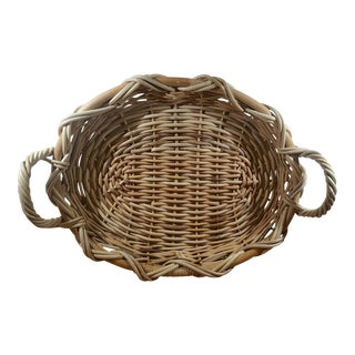 Large Woven Basket With Handles