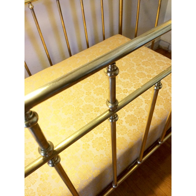 Vintage French Solid Brass Baby Crib For Sale - Image 7 of 11