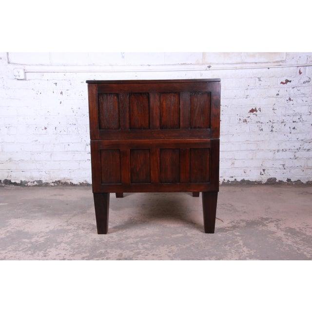 Vintage Dark Oak Blueprint Flat File For Sale - Image 9 of 11