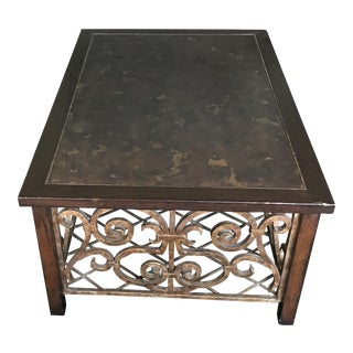 Drexel Heritage Wood, Copper & Iron Coffee Table