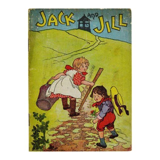 "McLoughlin Bros. ""Jack and Jill"" Children's Linen Book For Sale"