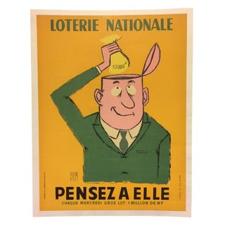 Original 1930's French Mid-Century Poster