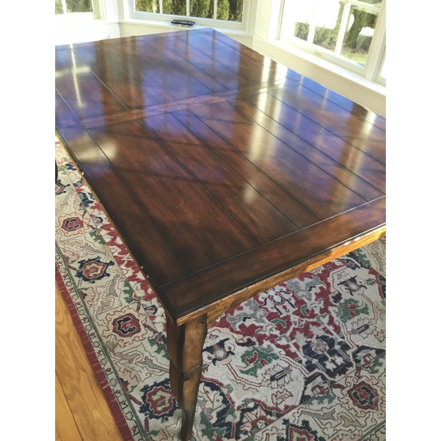 Wood French Country Distressed Dining Table For Sale - Image 7 of 10