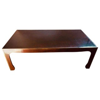 Branded Gracie Coffee Table Gilt Metal Banded Ming Style For Sale