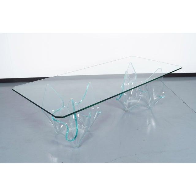 Vintage Sculptural Glass Dining Table by Laurel Fyfe For Sale In Los Angeles - Image 6 of 9