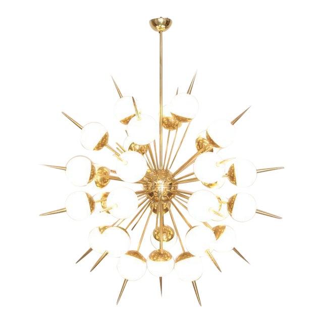 Excellent huge sputnik murano glass and brass chandelier attributed huge sputnik murano glass and brass chandelier attributed to stilnovo image 1 of 6 aloadofball Gallery