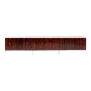 Monumental Custom Florence Knoll Rosewood Credenza For Sale