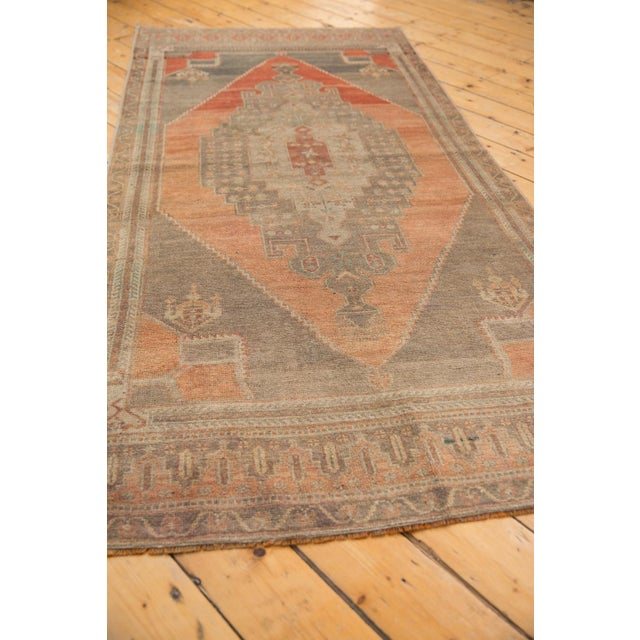 """Old New House Vintage Distressed Oushak Rug Runner - 3'9"""" X 7'11"""" For Sale - Image 4 of 11"""